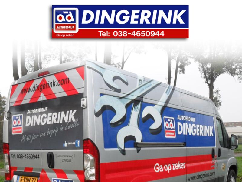 Autobedrijf Dingerink, komende 3 jaar trotse sponsor van Dames 1