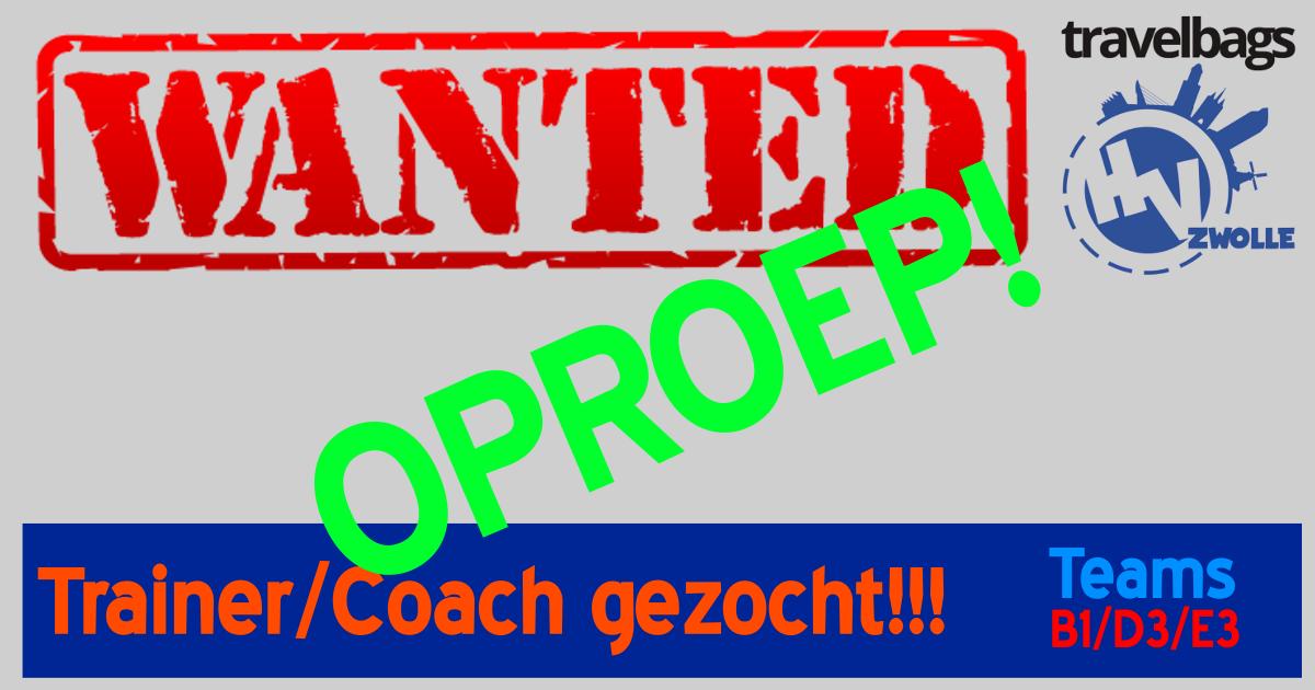 Noodkreet: Trainers/Coaches gezocht!!!