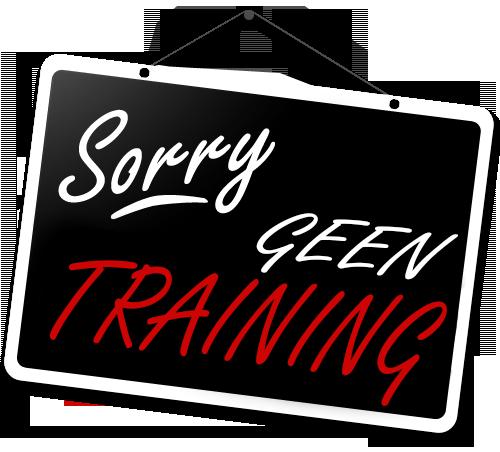 Trainingen op vrijdag 26 mei 2017 afgelast