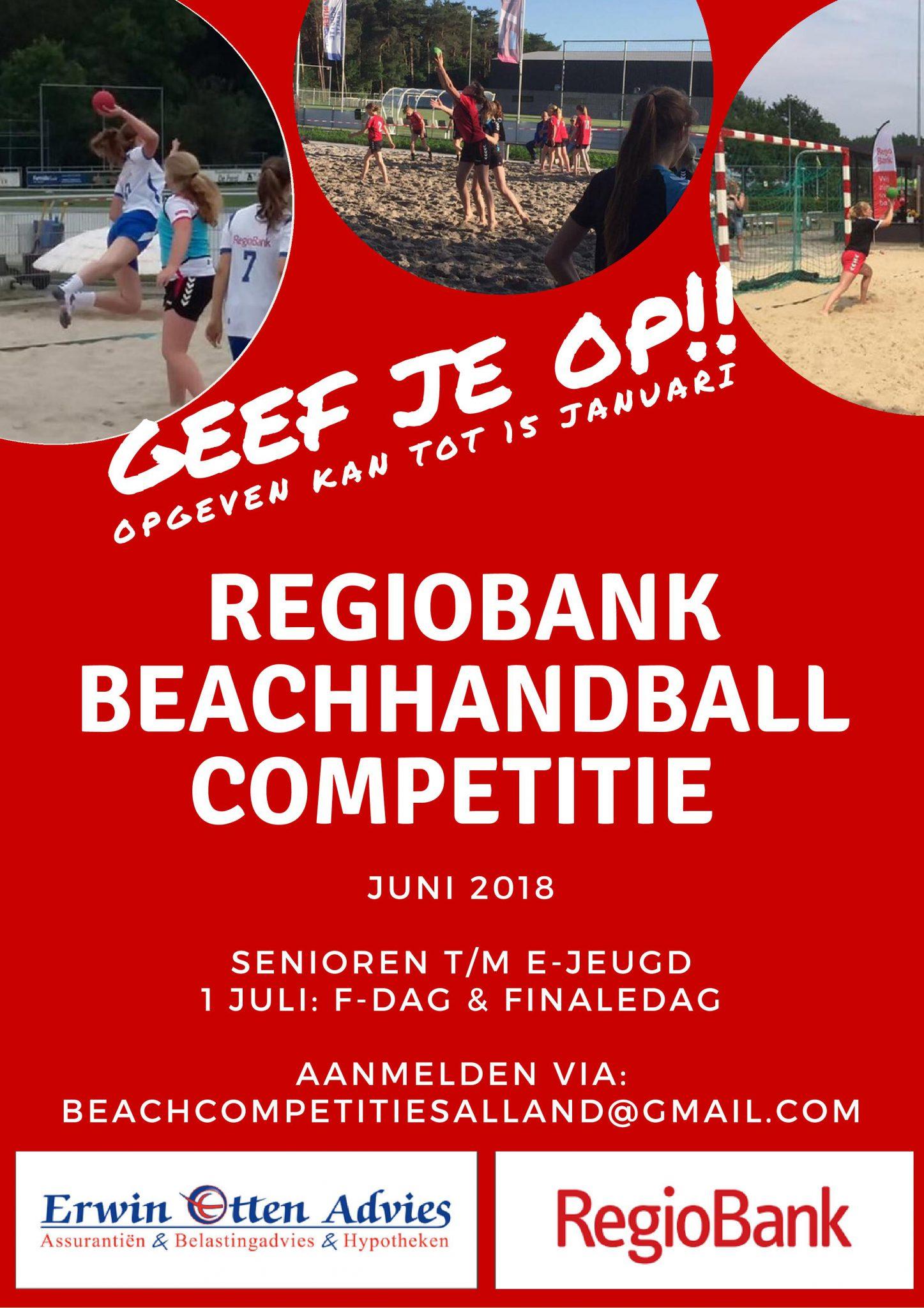 Aanmelding Beachhandbal 2018 kan nog!