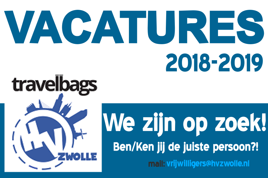 Vacatures aanloop 2018-2019