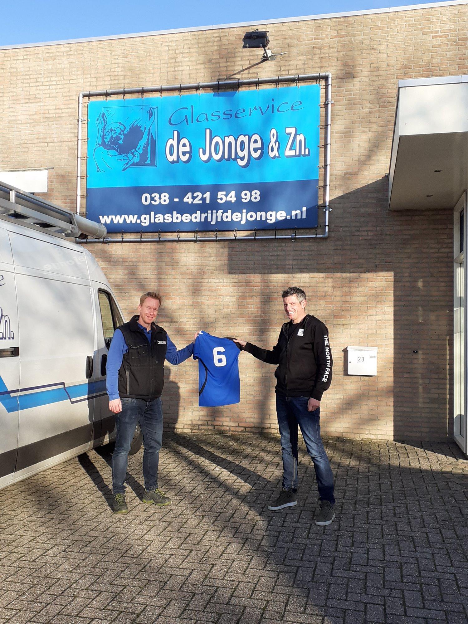 Nieuwe sponsor: Glasbedrijf De Jonge