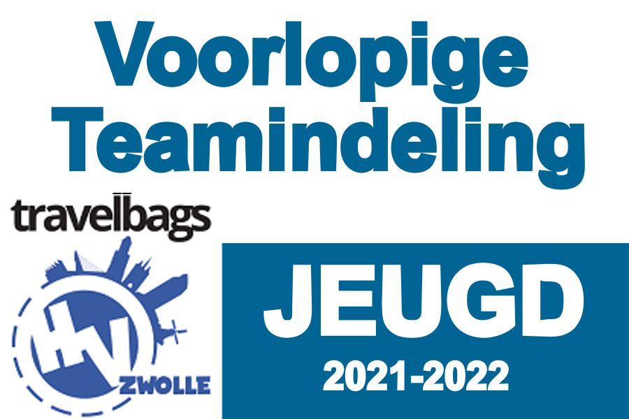 Voorlopige teamindeling seizoen 2021-2022